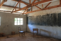 Klassenraum, der im Oktober 2016 noch in Arbeit war