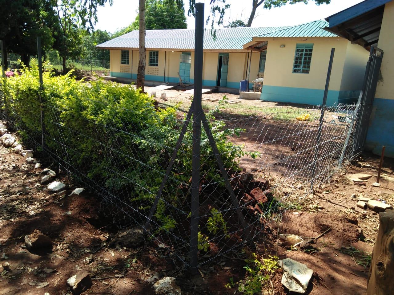 Vorschulklassenräume umzäunt