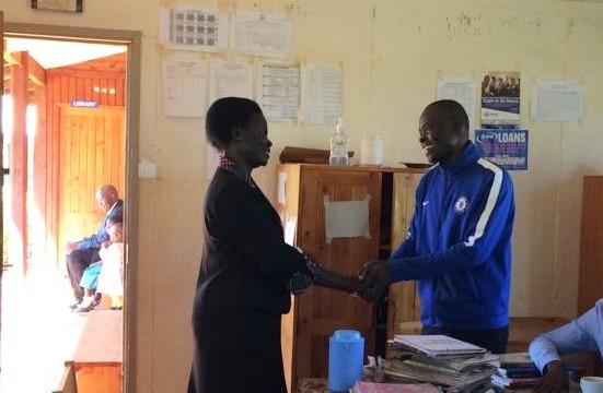 Begrüßung der neuen Schulleiterin