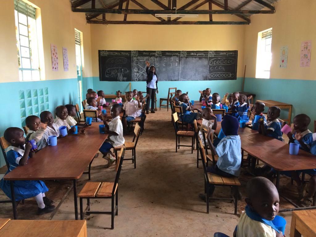 Vorschule in neuen Klassenzimmern