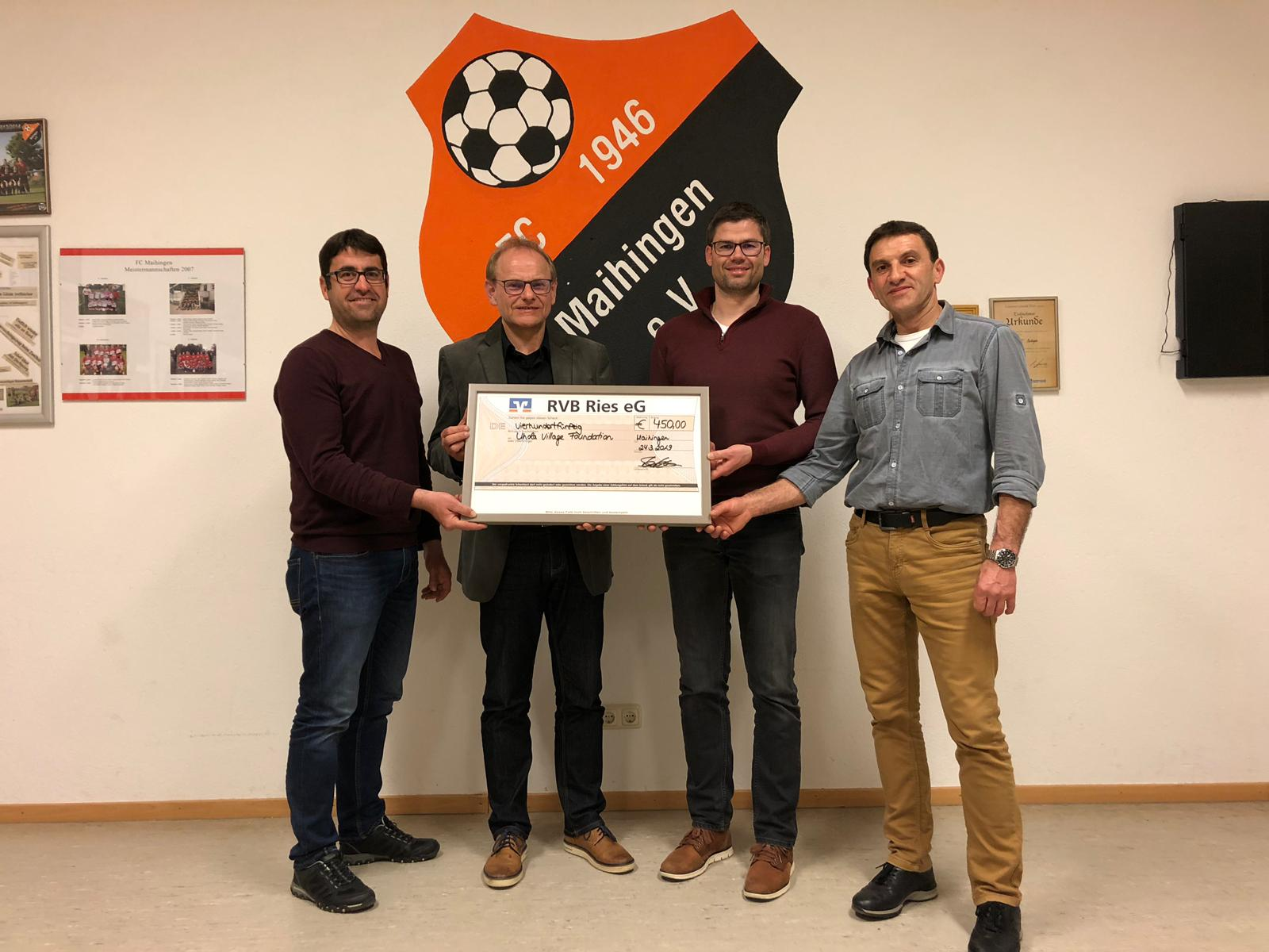 Spende vom FC Maihingen